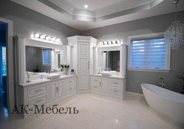 Угловая мебель в ванную комнаты под заказ