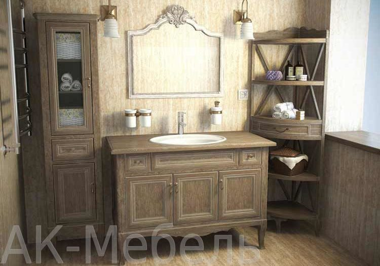 Комплект мебели из массива дерева для ванной