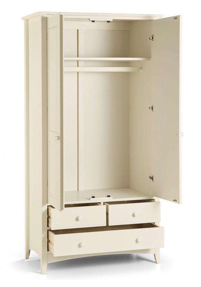 Шкаф двухдверный из МДФ с тремя ящиками, для одежды, штанга