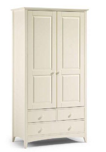 Шкаф двухдверный из МДФ с тремя ящиками, для одежды