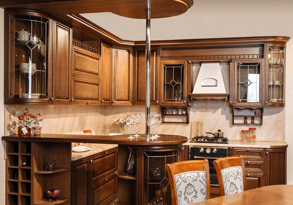 Заказать кухню с деревянными фасадами